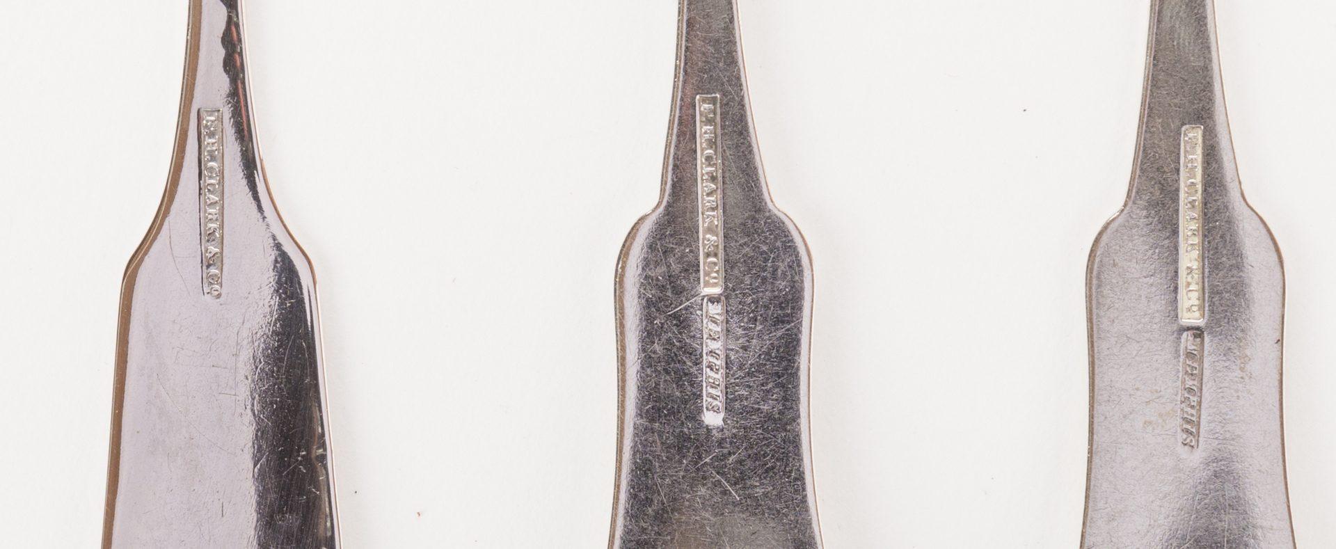 Lot 265: 10 pcs Memphis Coin Silver Flatware