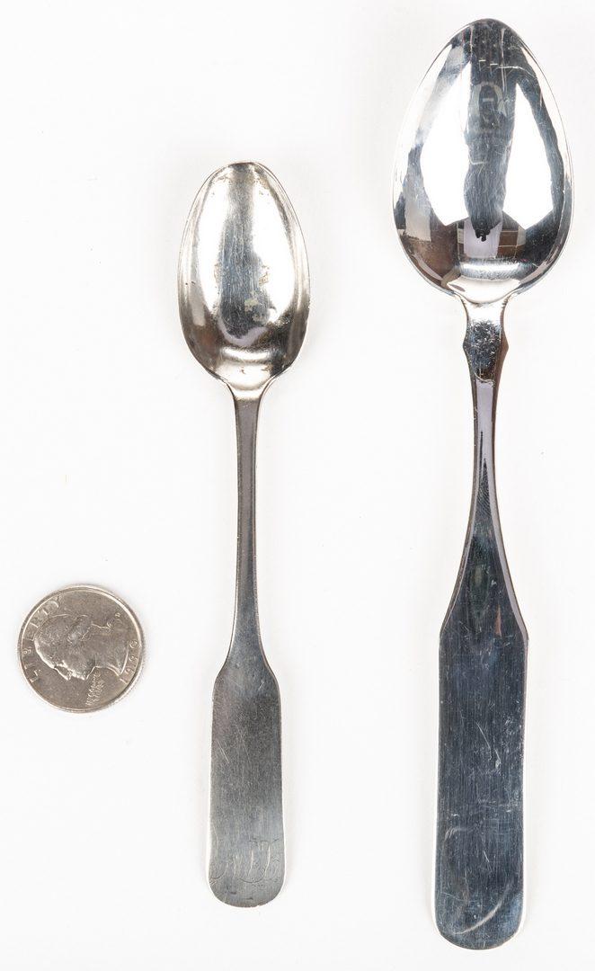 Lot 268: 2 E. TN Coin Silver Spoons, inc. Cain, Garner