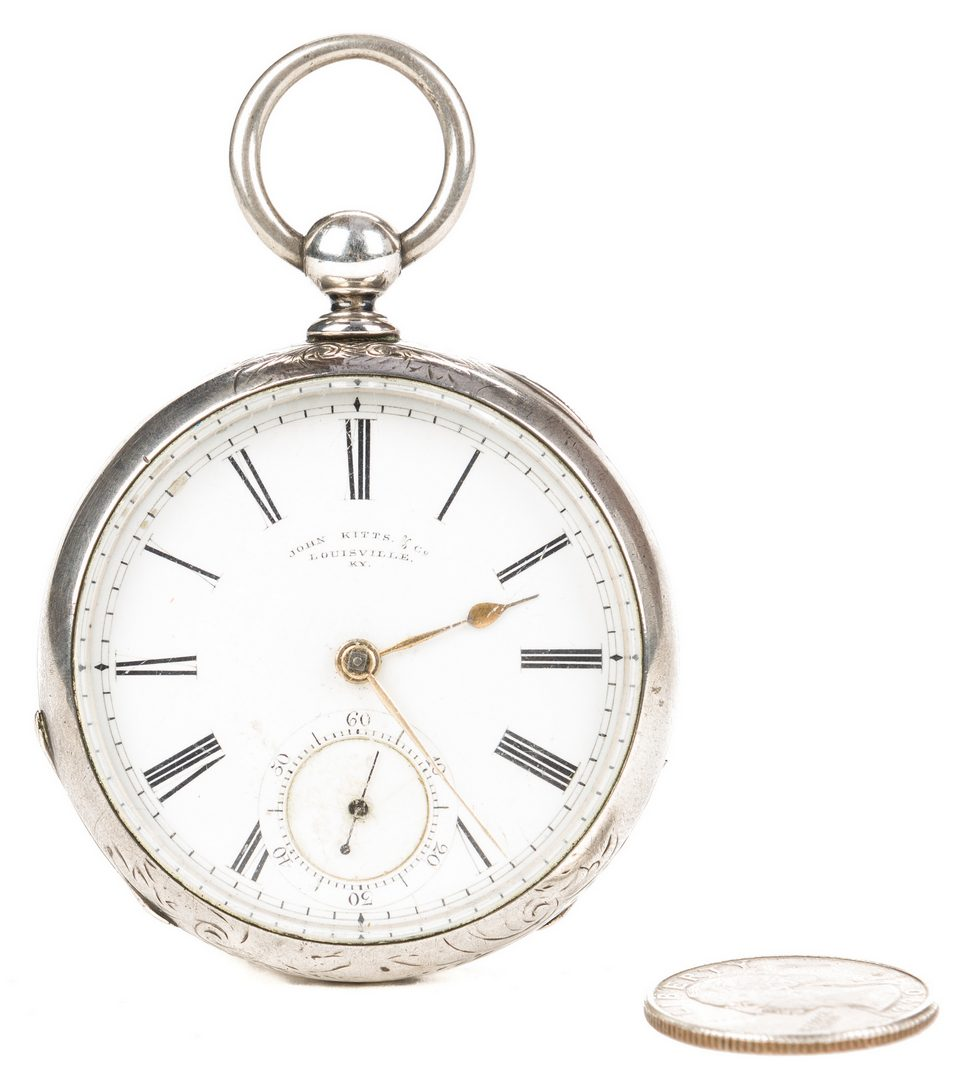 Lot 271: J. Kitts KY Coin Silver Pocket Watch