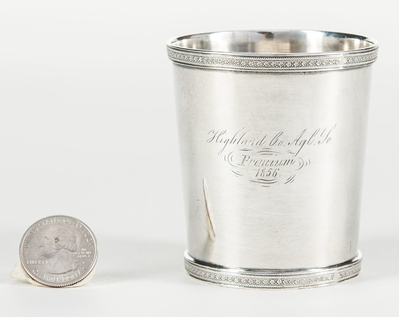 Lot 274: 1856 Agricultural Coin Silver Julep
