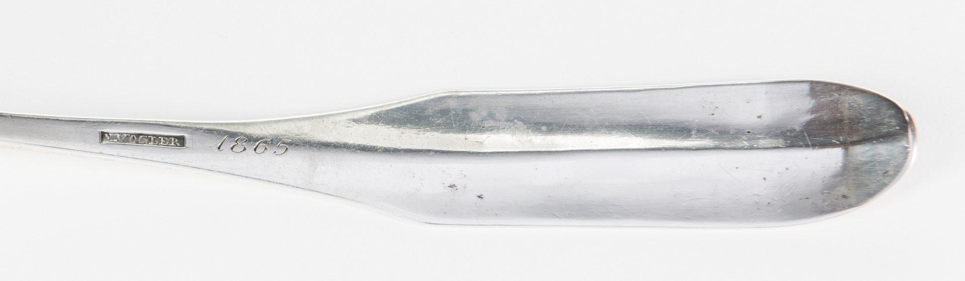 Lot 275: NC Coin Silver Ladle, N Vogler