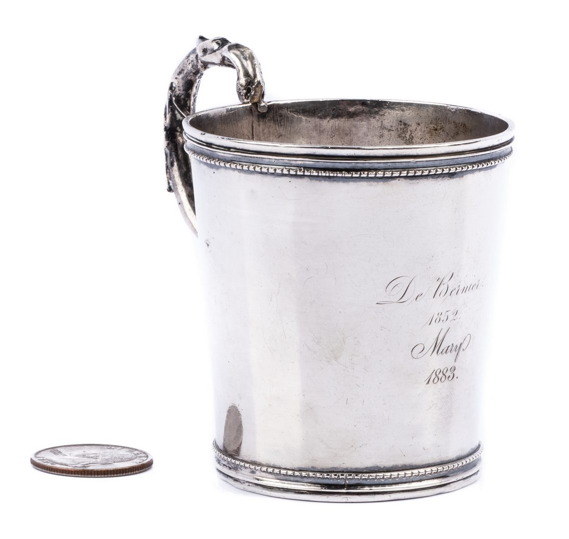 Lot 277: South Carolina Coin Silver Cup, Ewan