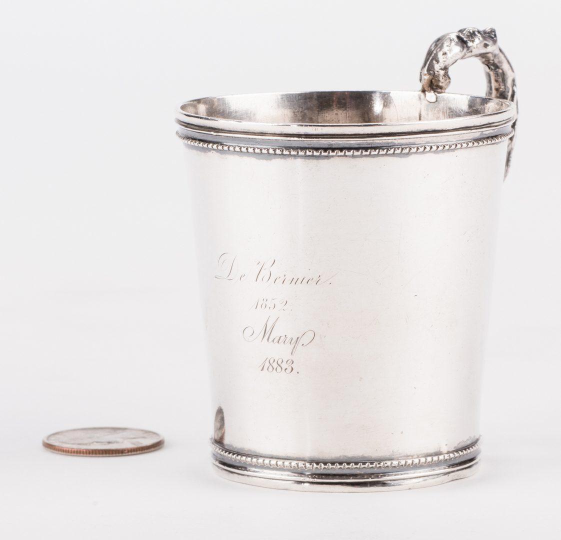 Lot 277: South Carolina Coin Silver Cup, Ewan