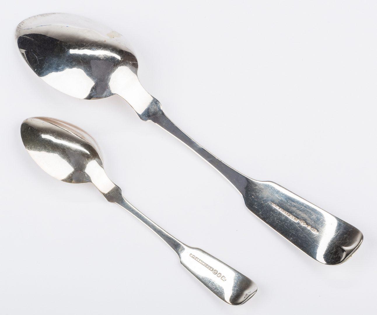 Lot 279: Ewan S. Carolina Coin Silver Tongs plus 2 spoons
