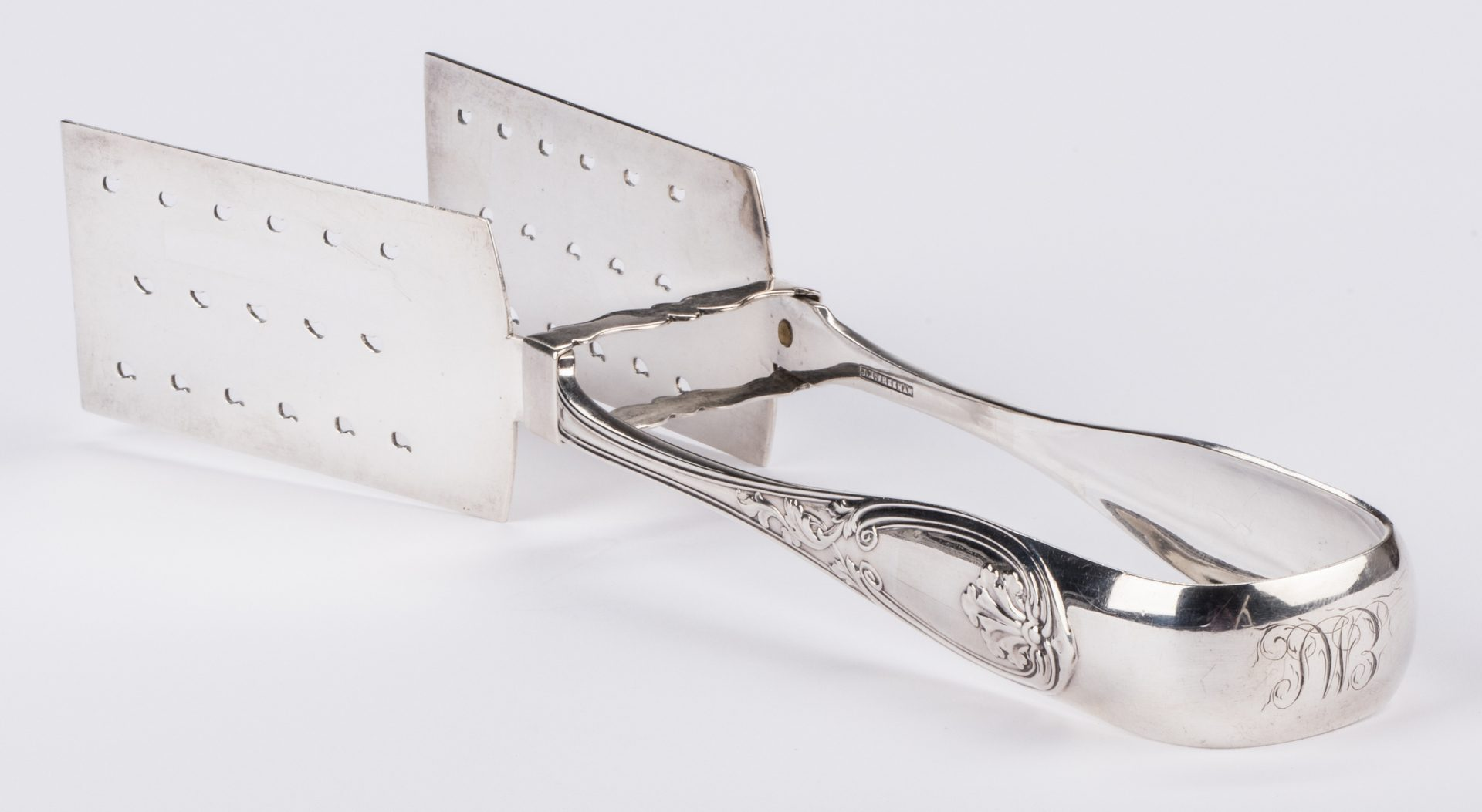Lot 280: Virginia Coin Silver Serving Tongs