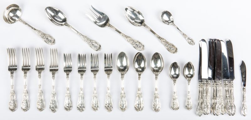 Lot 292: Gorham Mythologique Sterling Flatware, 46 pcs.