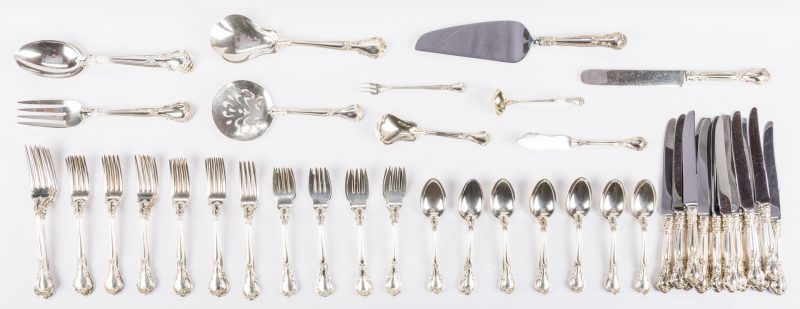 Lot 293: Gorham Chantilly Flatware Set, 79 pcs