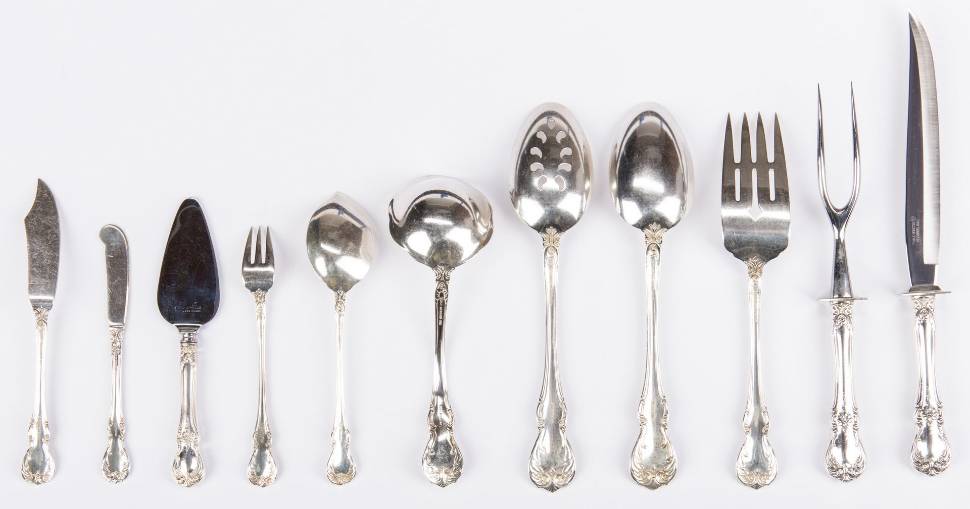 Lot 298: 80 Piece Towle Old Master Sterling Flatware
