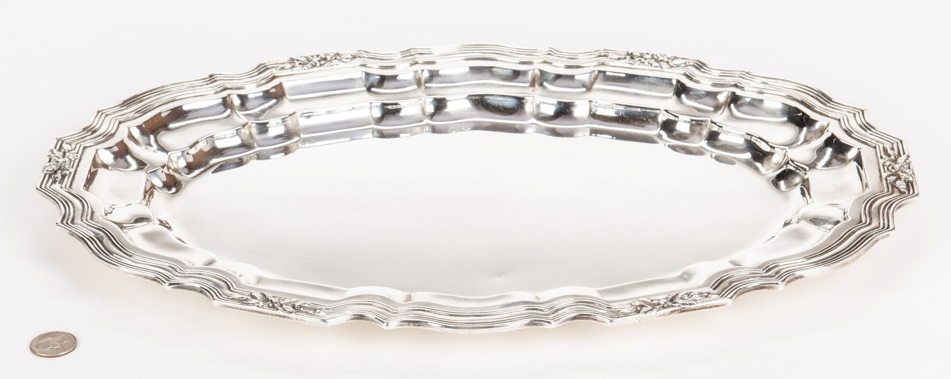 Lot 302: Howard & Co. Oval Sterling Silver Tray