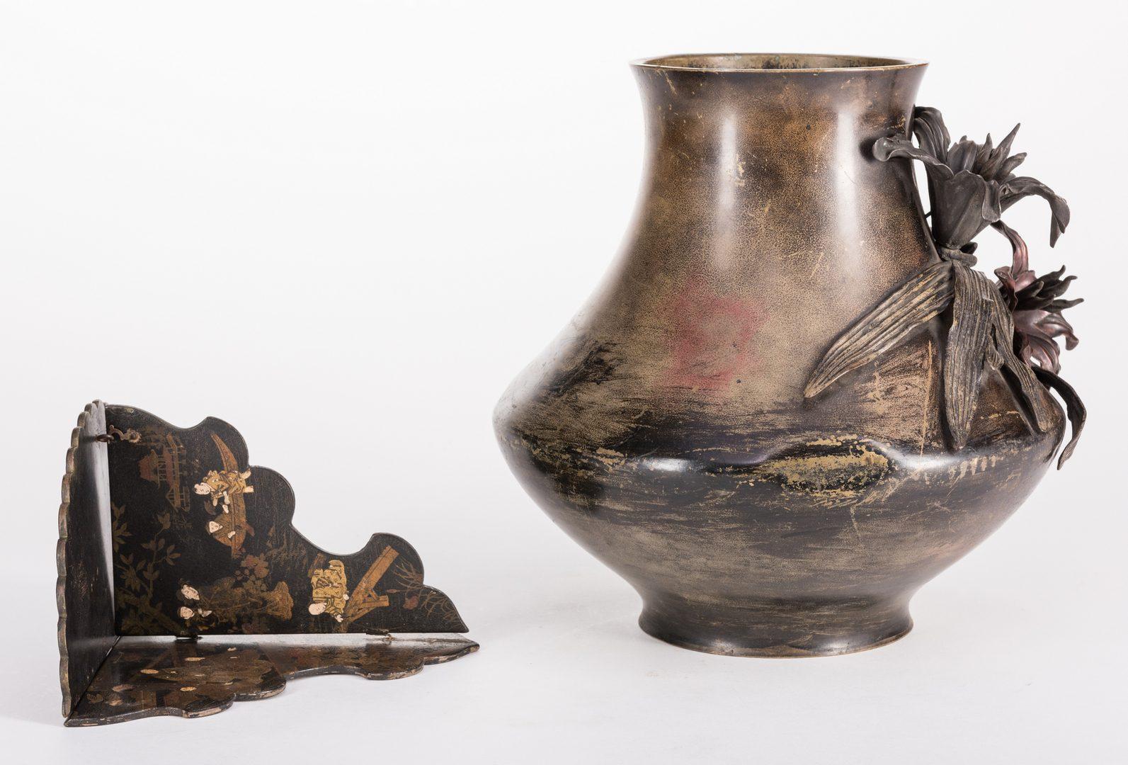 Lot 308: 5 Asian Decorative Items, inc. Bronze