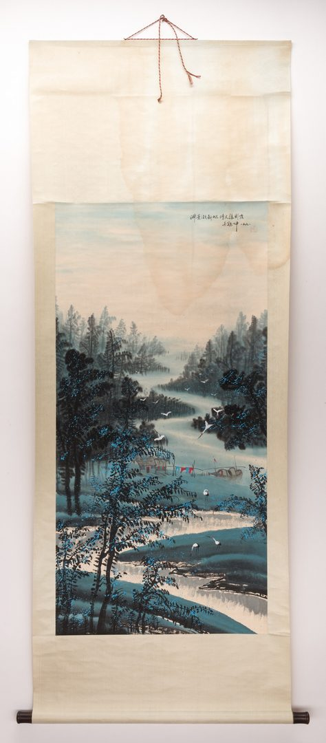 Lot 310: Chinese Scrolls, Manner of Wu Guanzhong