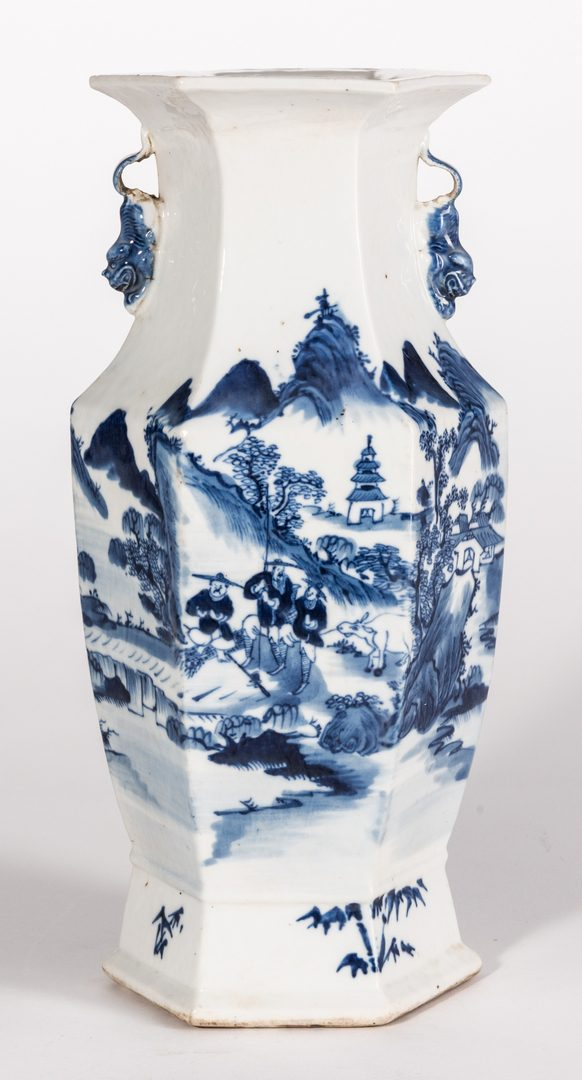 Lot 313: Chinese Export Canton Porcelain, 4 pcs inc. vase