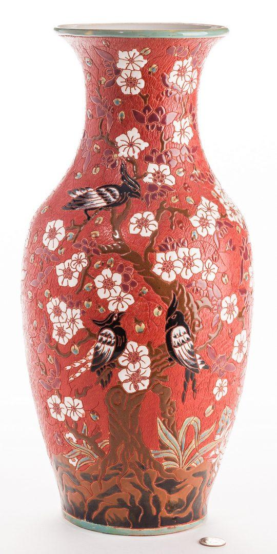 Lot 317: Chinese Republic Red Porcelain Vase