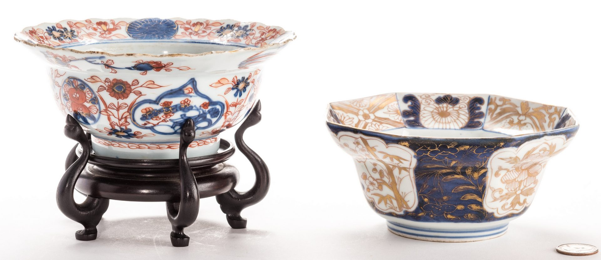 Lot 319: Two Small Asian Porcelain Bowls, 18th c.