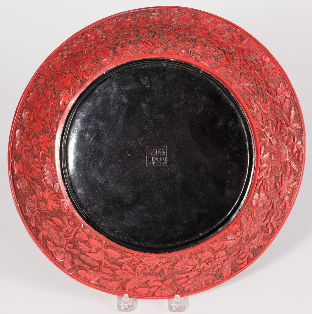 Lot 31: Cinnabar Lacquer Bowl with Bats