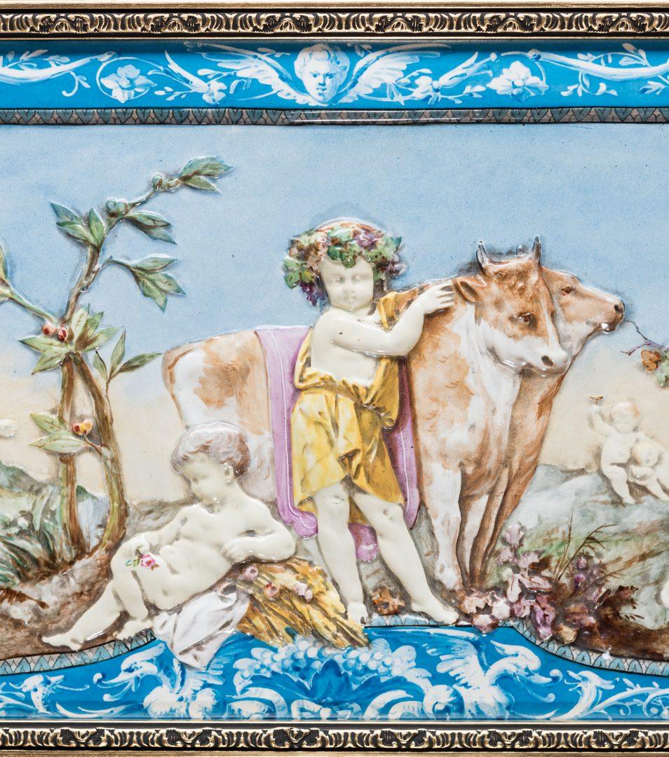 Lot 323: Lebeuf Milliet Creil Relief Porcelain Plaque