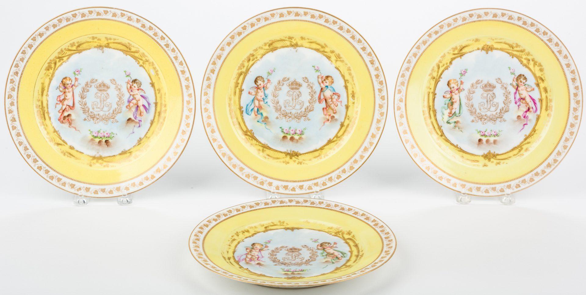 Lot 326: Sevres Chateau Tuileries Plates & Fruit Bowl, 5 items