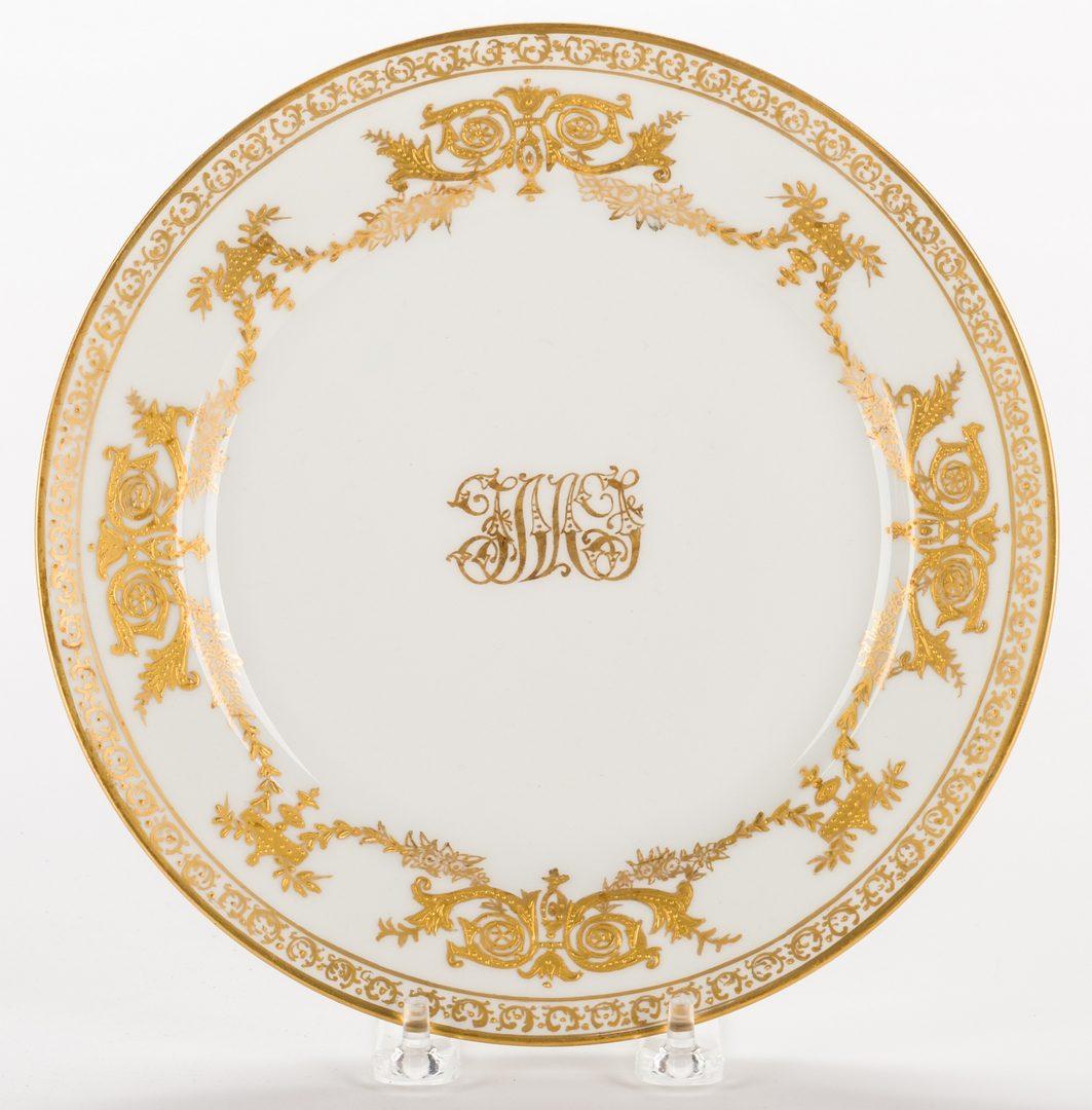 Lot 330: Set 12 Haviland Dessert Plates & Bird Plate, 13 items