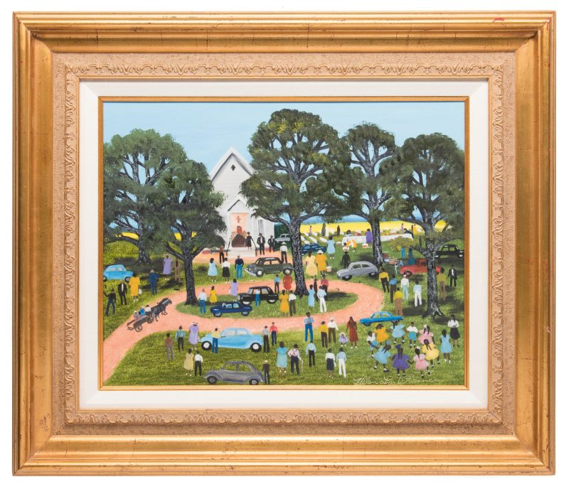Lot 336: Helen LaFrance, O/C, Country Church