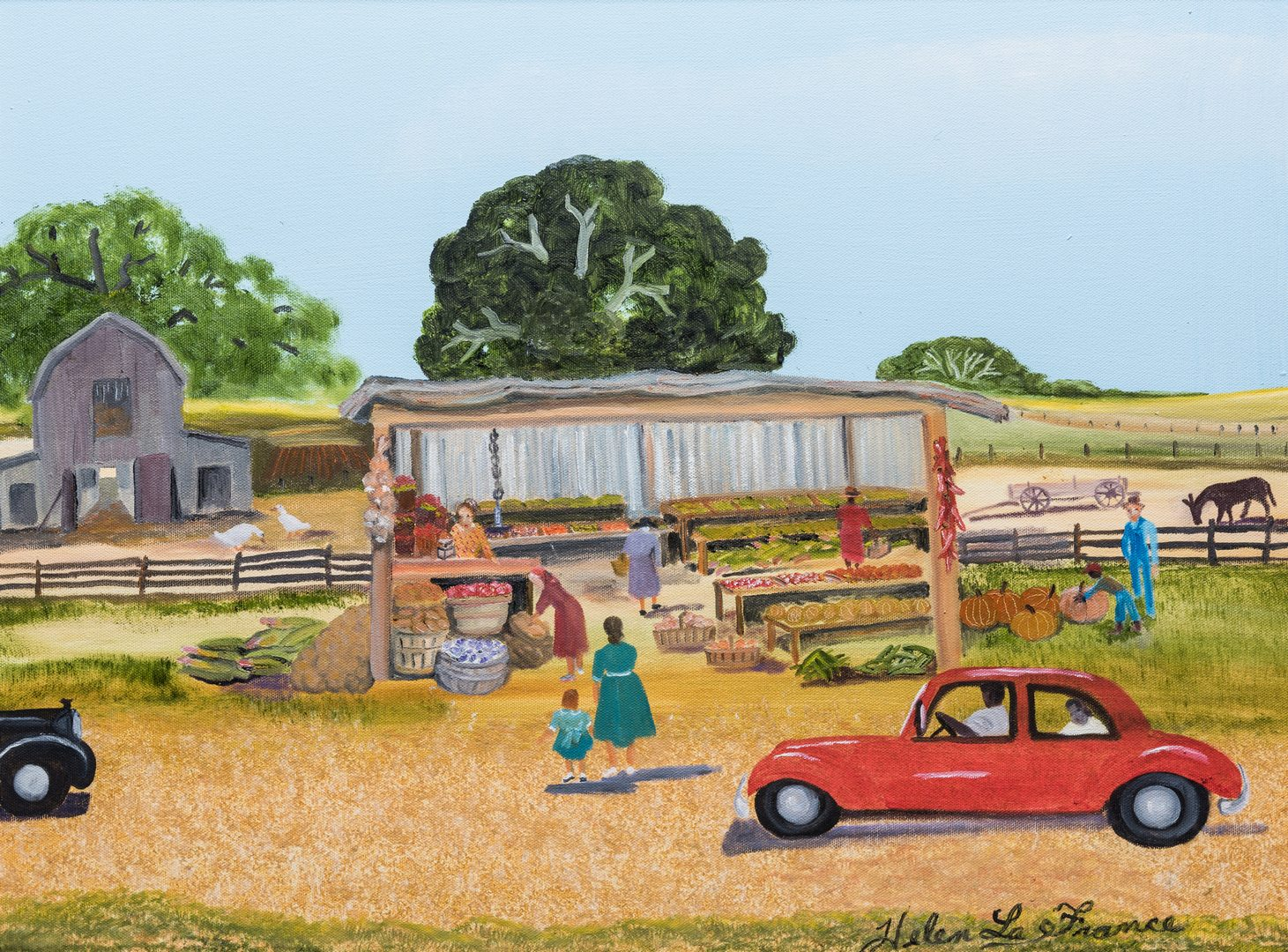 Lot 337: Helen LaFrance, O/C, Vegetable Stand