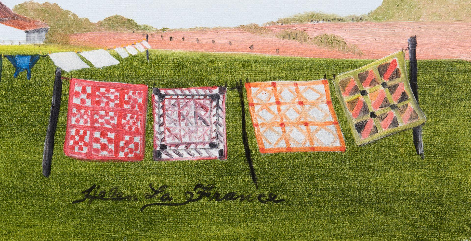 Lot 338: Helen La France, O/C, Laundry Day