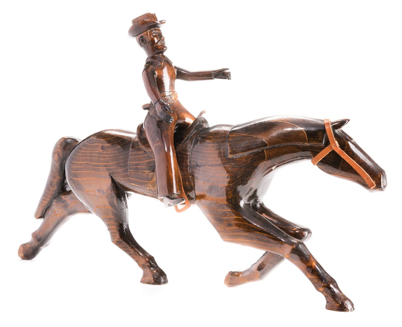 Lot 343: Sulton Rogers Carving, Cowboy on Horseback