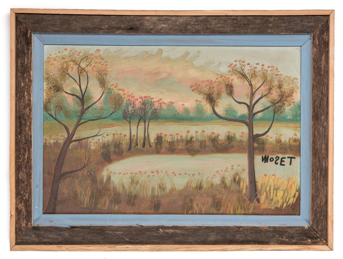 Lot 351: 2 Tolliver Family Folk Art Paintings