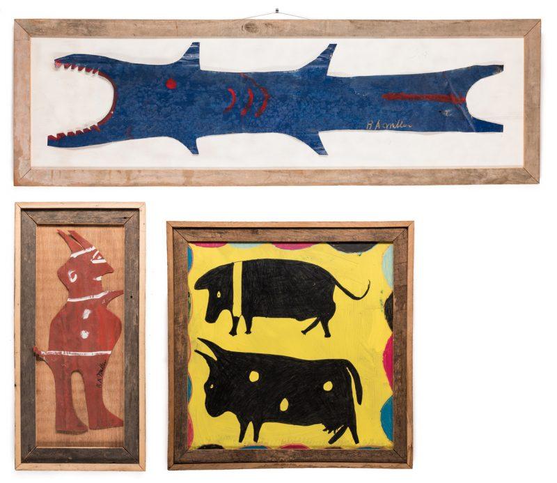 Lot 353: 3 R. A. Miller Folk Art Plaques