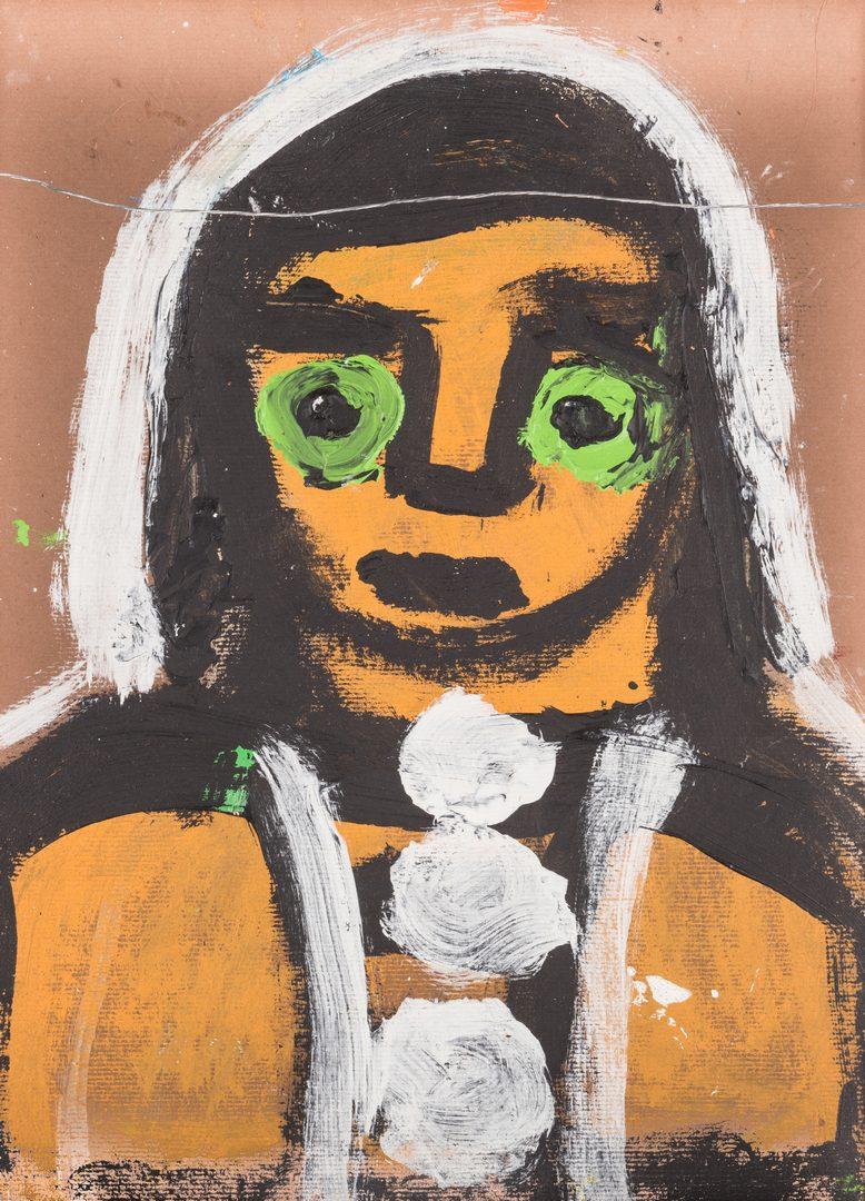Lot 354: 2 Folk Art Paintings, inc. Sudduth, Mumma
