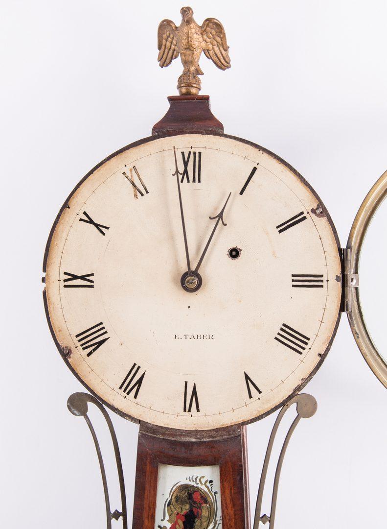 Lot 362: E. Taber Federal Banjo Clock
