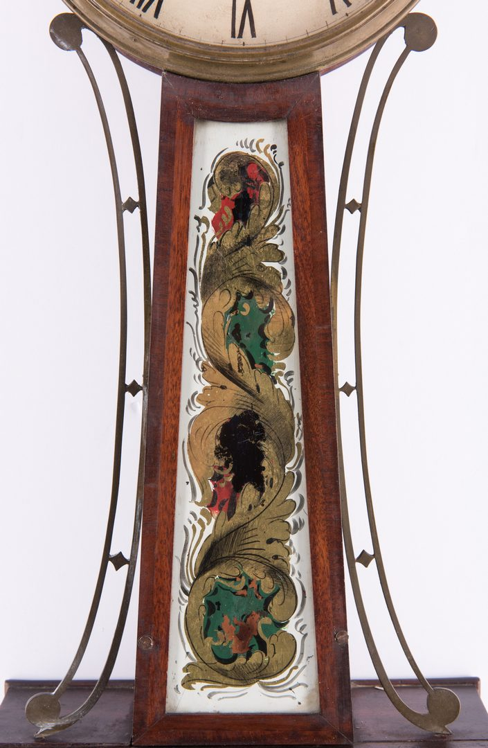 Lot 362: E. Taber Federal Banjo Clock