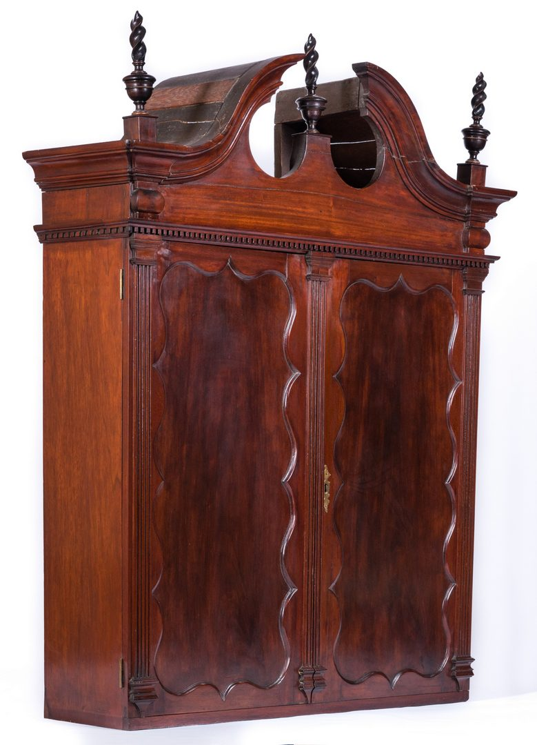 Lot 366: Boston Chippendale Style Mahogany Secretary Desk