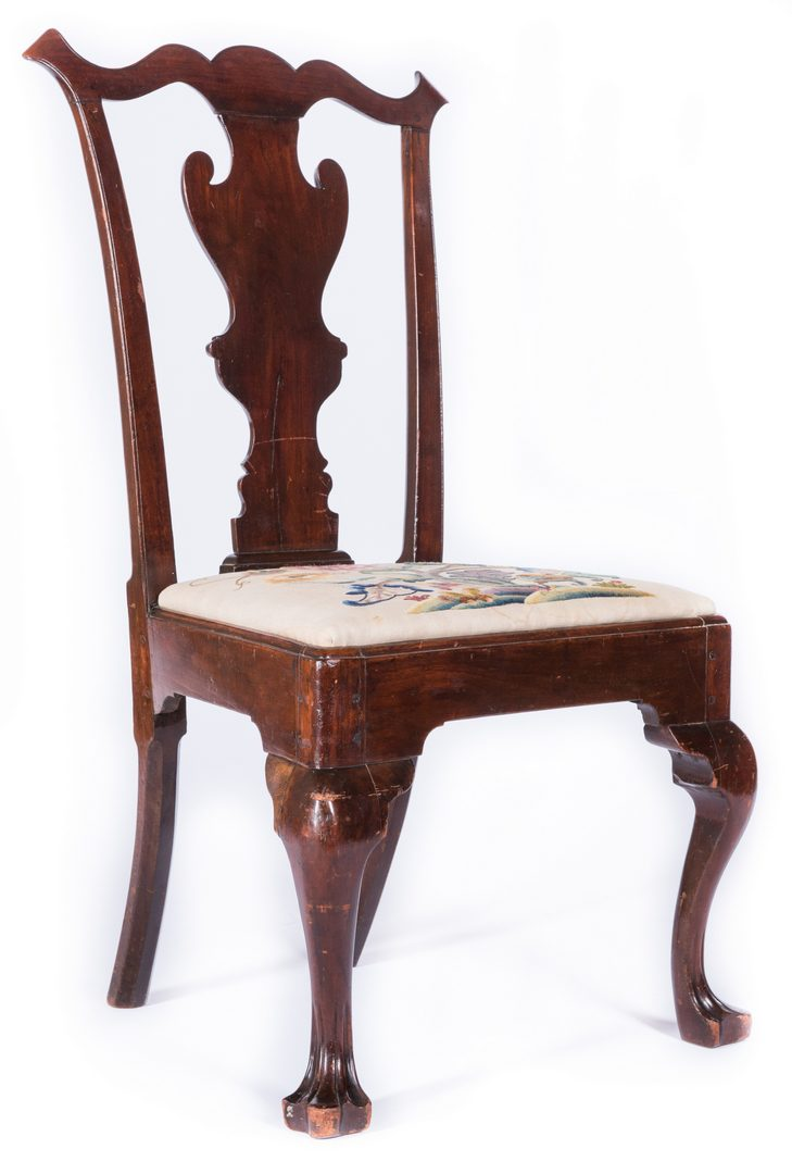 Lot 367: Delaware Valley, Queen Anne Trifid Foot Chair