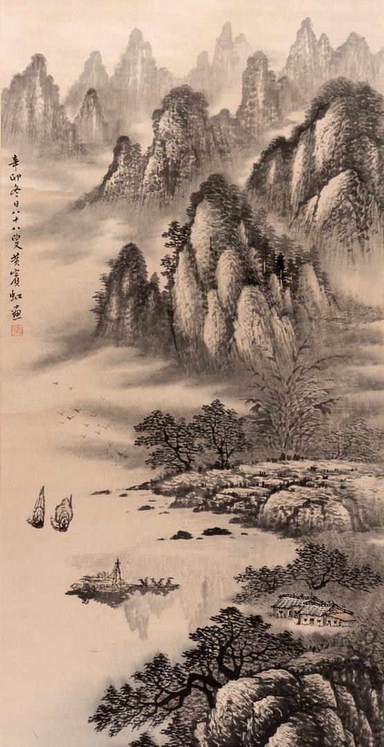 Lot 36: Chinese Scroll, attr. Huang Bing Hong