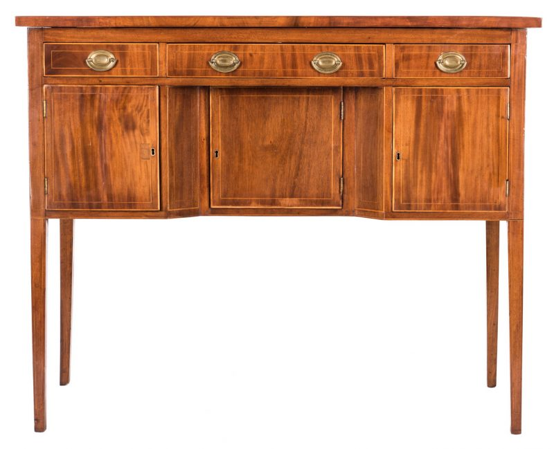 Lot 373: Southern Federal Inlaid Mahogany Sideboard