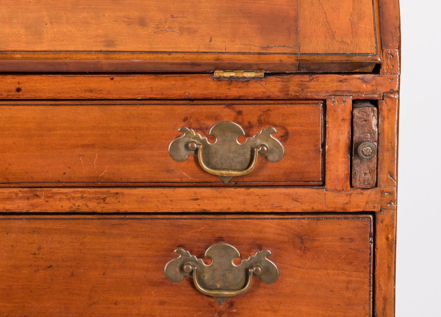 Lot 374: Southern Chippendale Cherry Desk