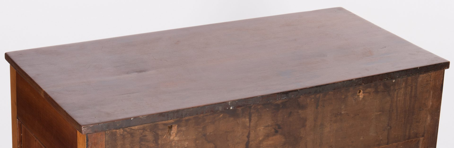 Lot 375: East TN Sheraton Chest of Drawers, Turned Feet
