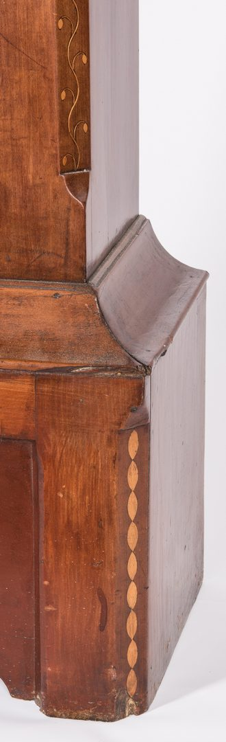 Lot 376: East Tennessee Inlaid Tall Case Clock