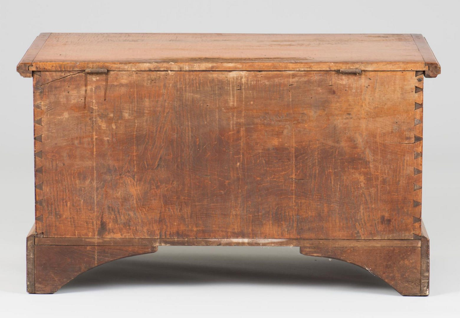 Lot 378: Southern Tiger Maple Blanket Chest