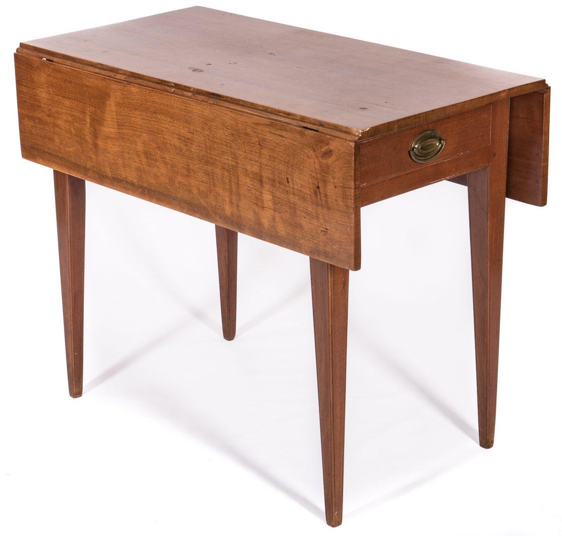 Lot 382: TN Federal Walnut Pembroke Table