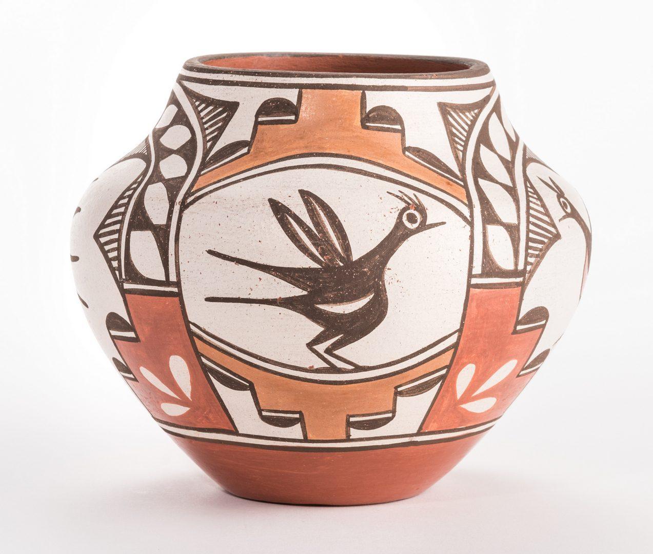 Lot 384: 2 Native American Pottery Items, Navasie & Medina