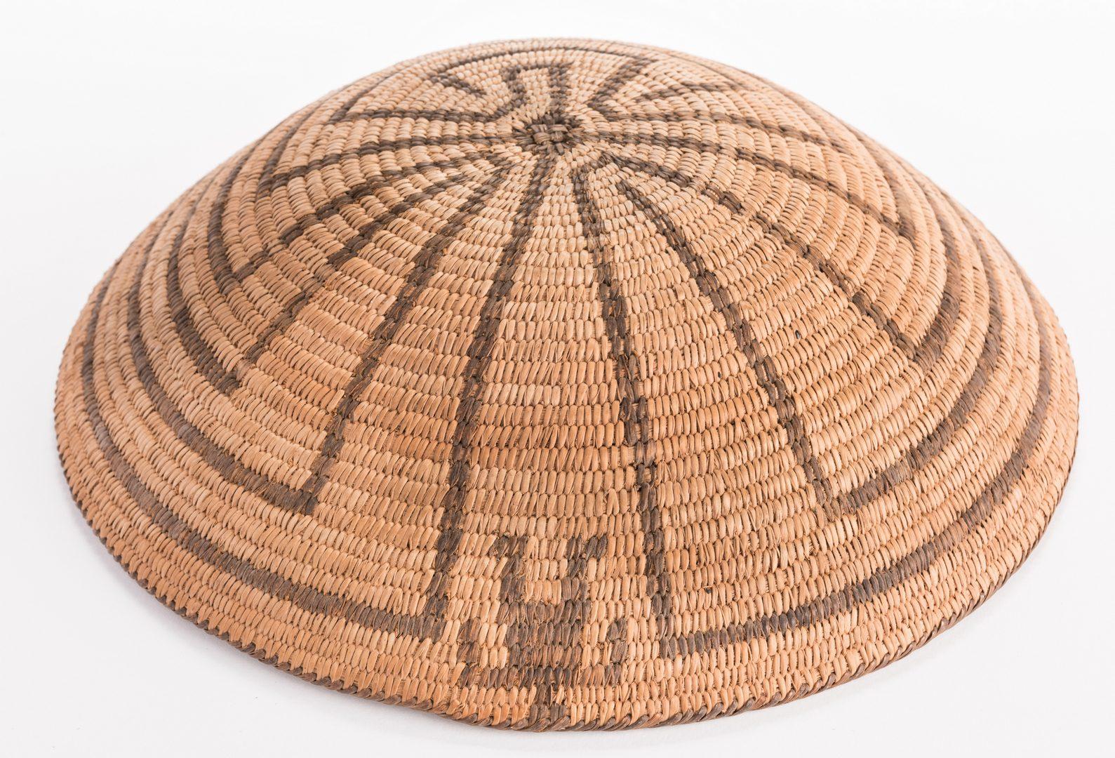 Lot 386: Pima Tray Basket, Man in the Maze Design