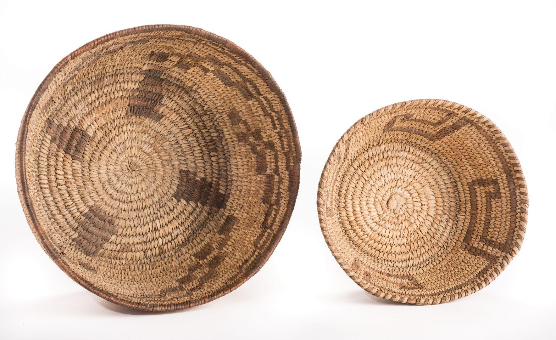 Lot 388: 6 Native American Papago Baskets