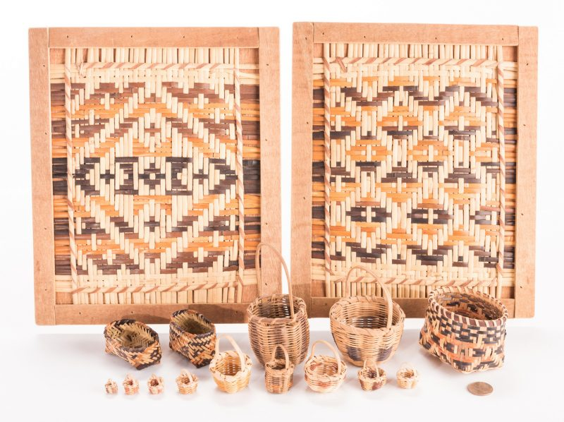 Lot 391: 16 Cherokee Weavings, inc. miniatures