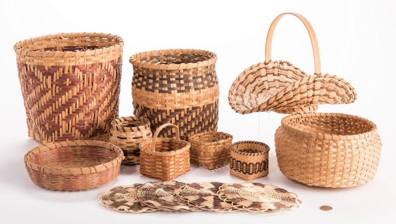 Lot 392: 14 Native American Weavings, mostly Cherokee