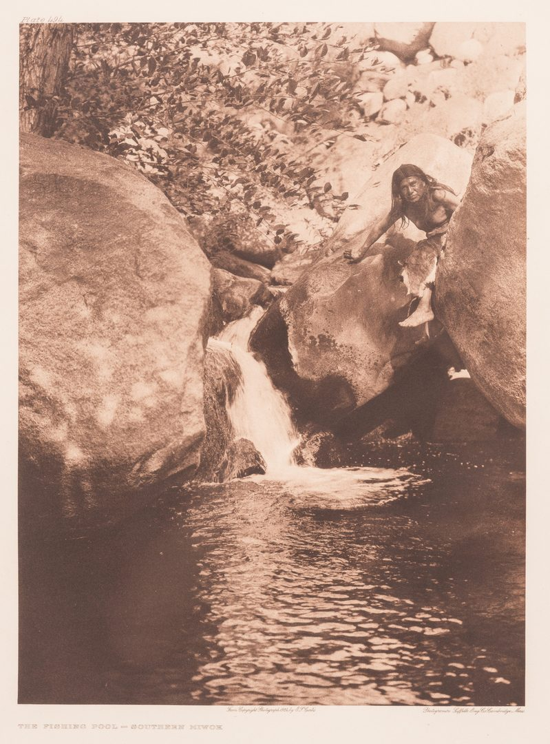 Lot 401: Edward S. Curtis, The Fishing Pool -Southern Miwok