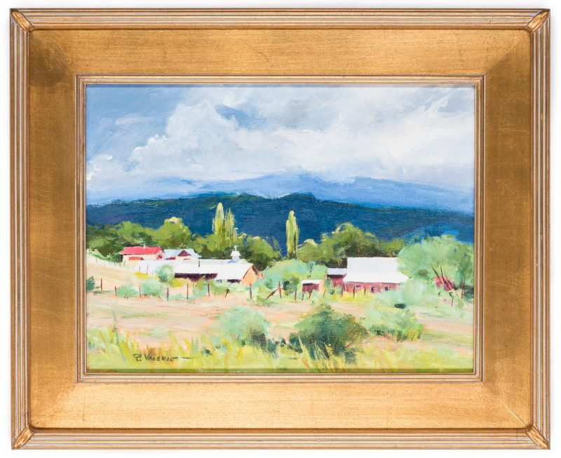 Lot 409: Ruth Valerio Western Landscape Painting