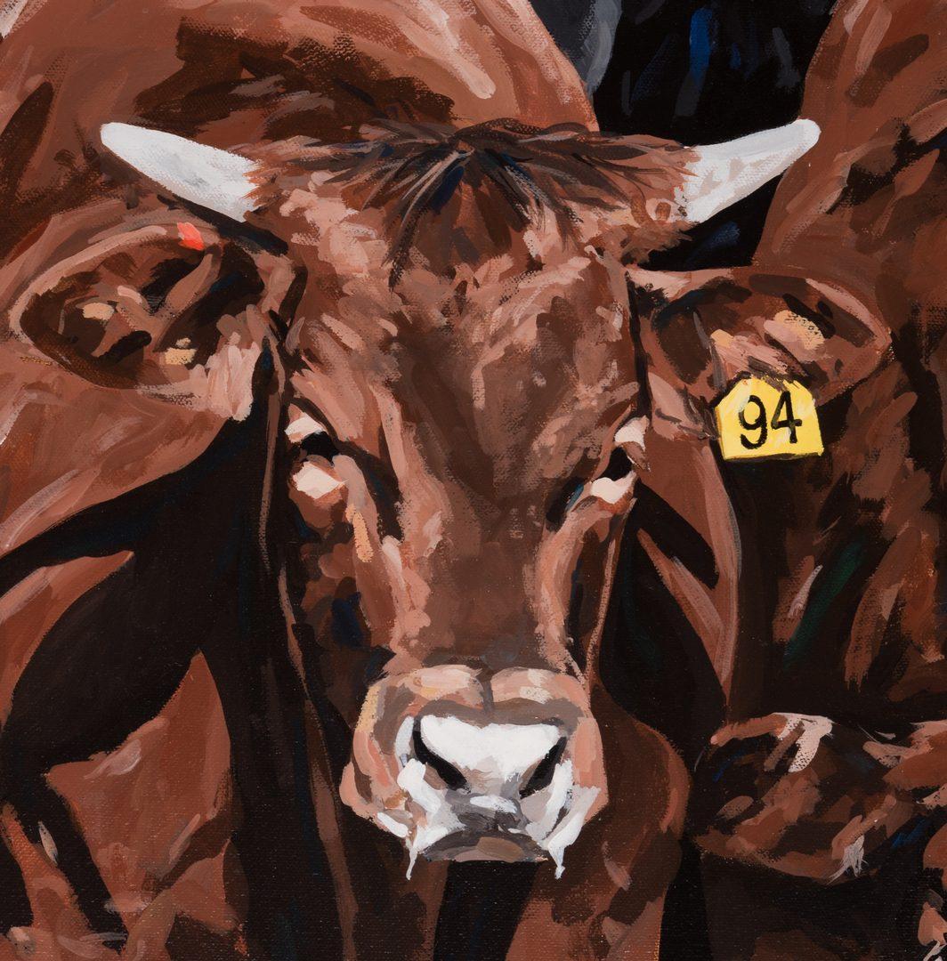 Lot 410: Jerry McAdams Artwork, TX Cattle