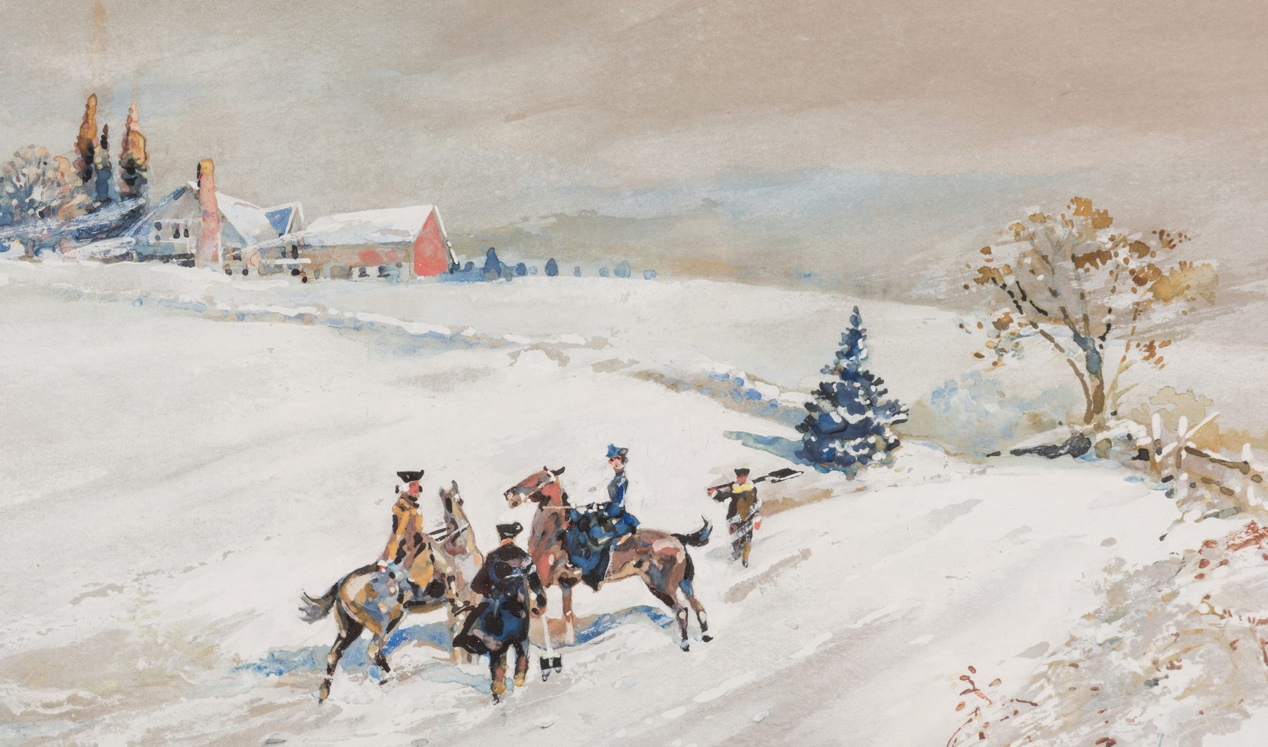 Lot 412: Walter G. Read Gouche, A Colonial Winter