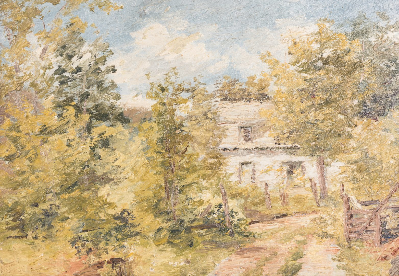 Lot 417: 2 American School Impressionist Landscape Paintings